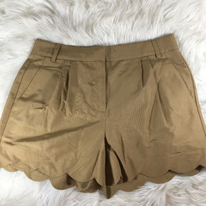 J. Crew Scalloped High Waisted Shorts Size 00